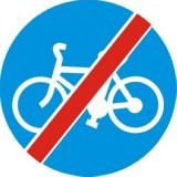 C-13a Koniec drogi dla rowerów. Oznacza koniec drogi przeznaczonej dla kierujących rowerami jednośladowymi