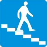 D-35 Przejście podziemne dla pieszych. Informuje o możliwości przechodzenia pieszych pod jezdnią lub nad jezdnią w sposób wskazany na znaku