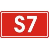 E-15d Numer drogi ekspresowej. Wskazuje numer i rodzaj (kategorię) drogi